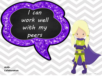 """AVID WICOR Poster with """" I CAN """" statements  SUPER HEROS"""