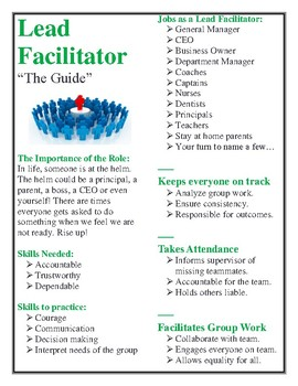 AVID and WICOR-Rich Collaborative Group Roles for 4-6 Students (Middle-High)