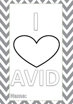 AVID binder covers and organizational system