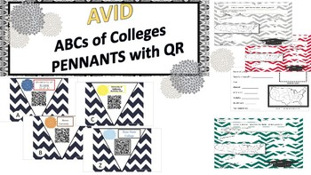 AVID college pennants with QR codes