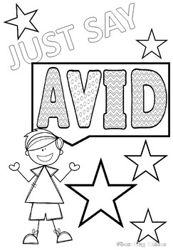 AVID- coloring pages