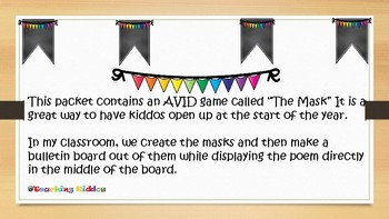 AVID game The Mask
