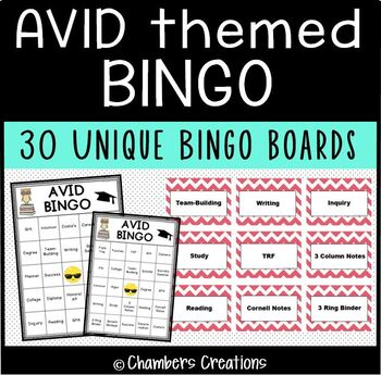 AVID themed BINGO