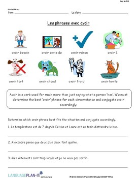 AVOIR PHRASES REVIEW TWO (FRENCH)