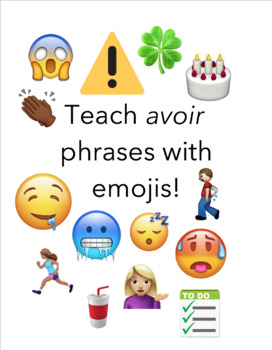 Emoji French Worksheets Teaching Resources Teachers Pay