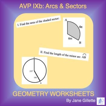AVP IXb: Arcs and Sectors