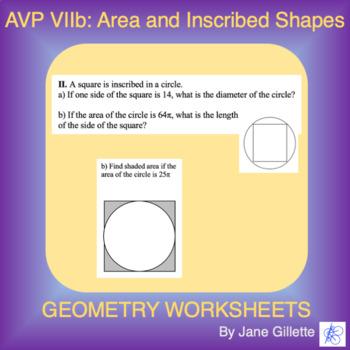 AVP VIIb: Area of Inscribed Shapes