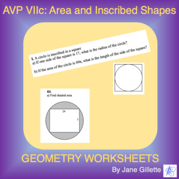 AVP VIIc: Area of Inscribed Shapes