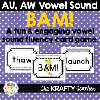 Vowel Practice AW, AU Card Game BAM!