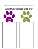 AW/ AU Word Work Phonics Packet