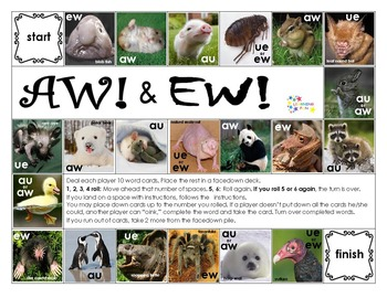 AW! & EW! au, aw, ew and ue diphtongs (variant vowels)