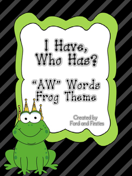 """AW   """"I Have, Who Has?"""" **FREE!**"""
