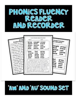 AW and AU Sound - Phonics Fluency Assessment