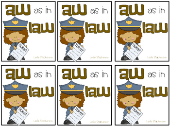 AW as in LAW - A Mini-Book for the aw / au vowel digraph