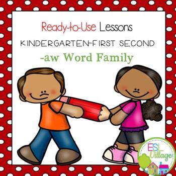 -aw word family