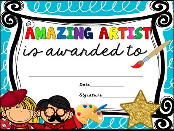 AWARD CERTIFICATES- END OF YEAR ELEMENTARY