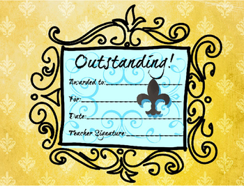 "AWARD Certificate Paris, France Theme - ""Outstanding"" - behavior management"