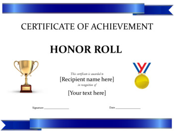 AWARDS  | 42 Monthly, Semester, End of the Year Awards (Editable) K-8