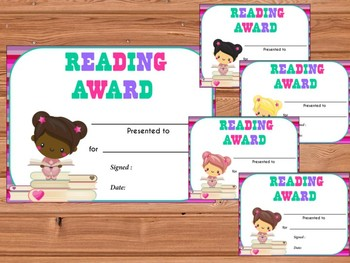 AWARDS : Cute Readers, Reading Awards for Girls and Boys