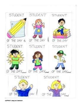 BRAG TAGS - STUDENT OF THE DAY AWARDS