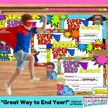 End of Year Awards: Superhero Themed Awards