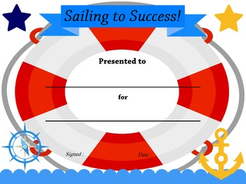 AWARDS and CERTIFICATES: Nautical