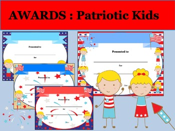 awards and certificates patriotic kids by the lotus pond tpt