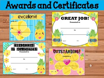 AWARDS and CERTIFICATES: Positive Pineapples