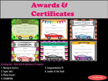 AWARDS and CERTIFICATES: Race to the Finish!