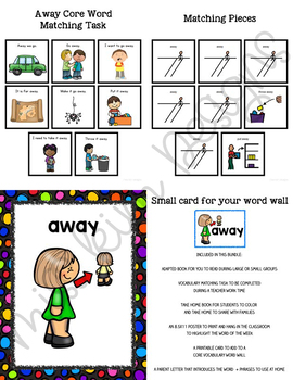 AWAY Core Vocabulary Unit for Special Education Teachers