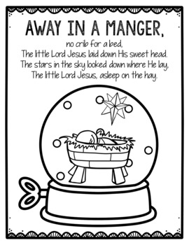 Christian Christmas Coloring Pages Worksheets Teaching Resources Tpt