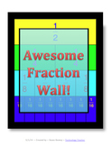 AWESOME FRACTION WALL!