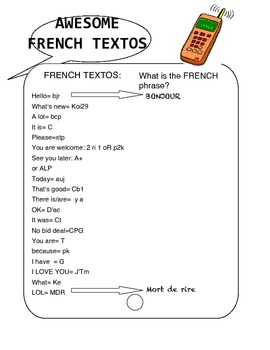 AWESOME FRENCH TEXTOS