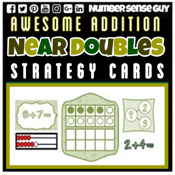 AWESOME NEAR DOUBLES  ADDITION STRATEGIES CARDS