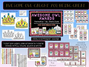 Back to School Owl CAUGHT YOU BEING GREAT AWARD PACK