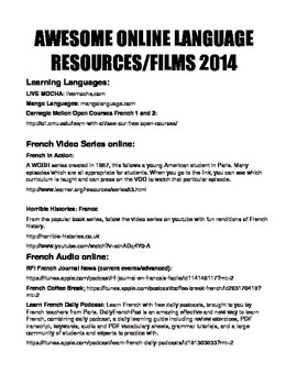 AWESOME Online Language Resources 2014 (French)