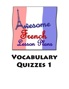 AWESOME Vocabulary Quizzes #1
