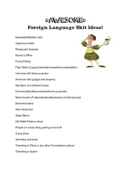 AWESOME foreign language skit ideas