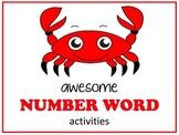 Number Word Activities