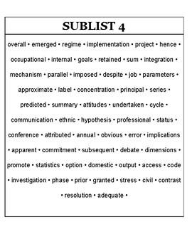 AWL Word List