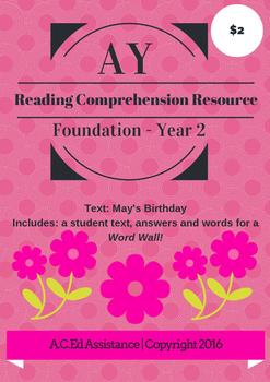 AY Reading Comprehension Resource