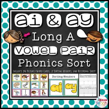 AY and AI Phonics Sort