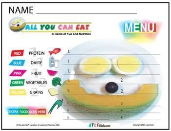 AYCE Nutrition Menu for Kids