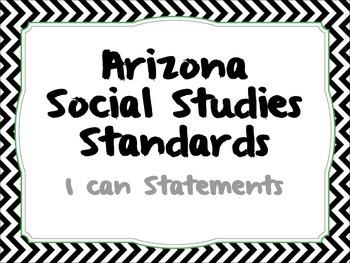AZ 6th grade Social Studies I Can Statements