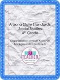 AZ State Standards: Social Studies 4th Grade