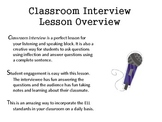 AZELLA Practice for Common Core Listening and Speaking: Classroom Interview