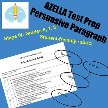 AZELLA Test Prep Persuasive Paragraph Writing Stage IV Editable