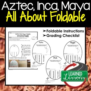 AZTEC, INCA, MAYA Activity, All About Foldable (Interactive Notebook)