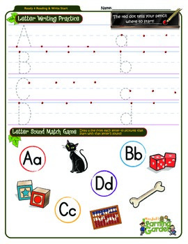 Aa, Bb, Cc and Dd Review Worksheet