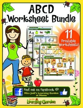 Aa, Bb, Cc and Dd Worksheet Bundle